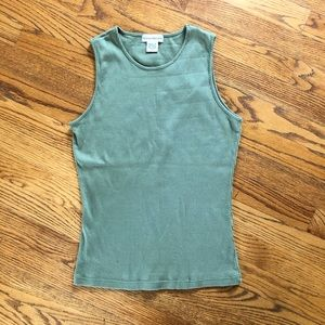 Banana Republic Size Small Tank Top Green